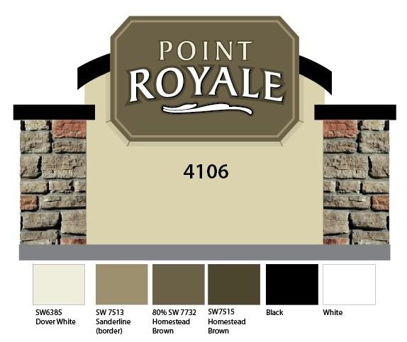 Point Royale Community Entrance Sign Monument Designs