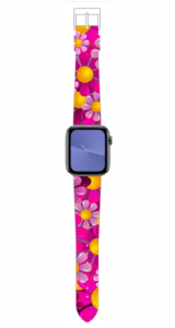 Custom Apple WATCH Band Pink Flower Design 38mm