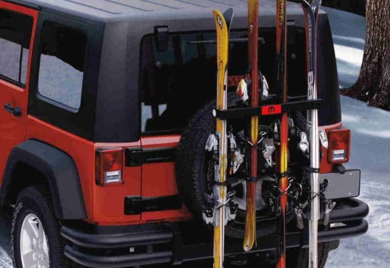 hitch mounted snowboard rack