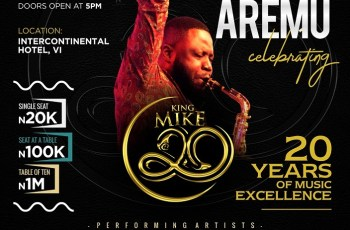 Mike Aremu 20 Years Anniversary Of Musical Excellence With A Concert