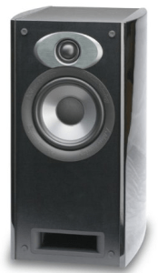 Atlantic Technology AT-2-S-GLF H-PAS Bookshelf Speaker (Single, Gloss Black Fleck)