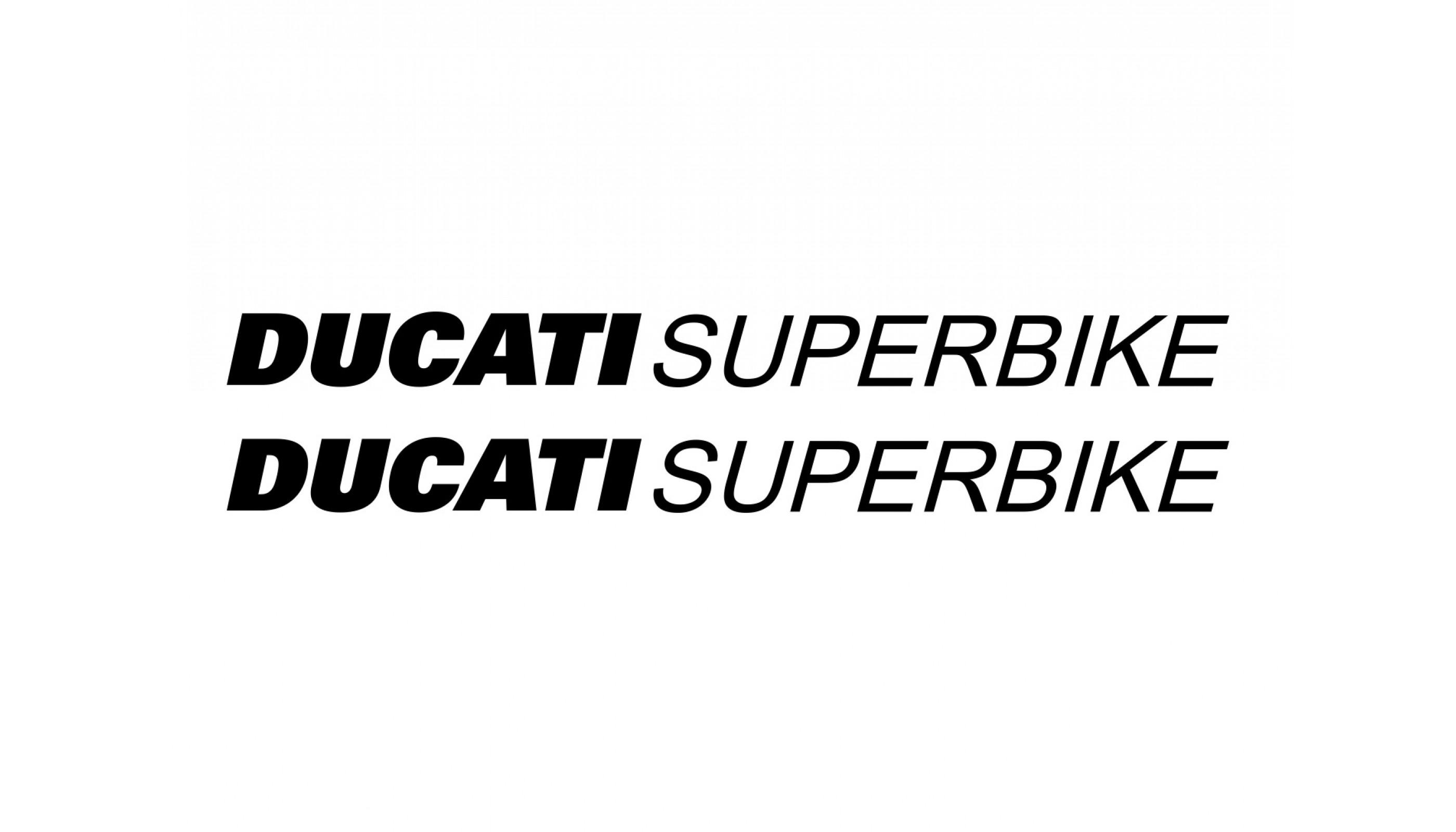 2x Ducati Superbike decals