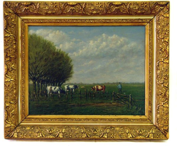 Gold Frame Oil Painting