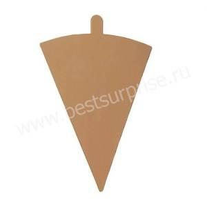 Подложка картонная треугольная для пирожных золото 120*90 мм., 100 шт.