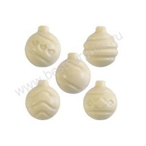 """Поликарбонатная форма для шоколада """"Елочные игрушки"""" MA1974, Martellato"""