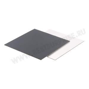 Подложки усиленные квадратные под торт 220*220 мм. (черные)