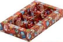 """Коробка для 6 конфет с пластиковой крышкой """"Новогодняя почта"""", 5шт."""