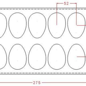 """Поликарбонатная форма для конфет IM707 """"Яйцо"""""""