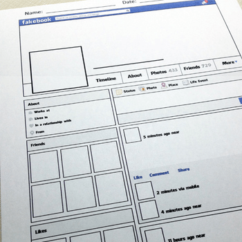 Printable Facebook Profile Amp Pinterest Board For Teachers
