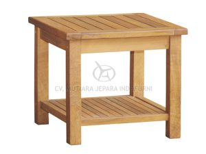 Square Coffee Table 50CM With Rack
