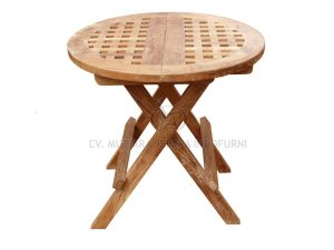 Outdoor Round Picnic Table with Hole