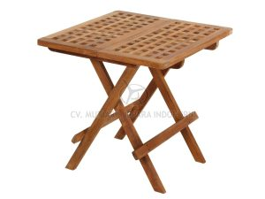 Outdoor Square Picnic Table with Hole