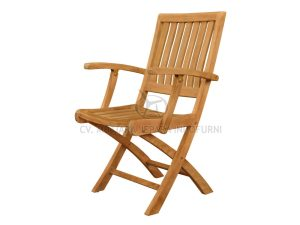 Toraja Folding Arm Chair