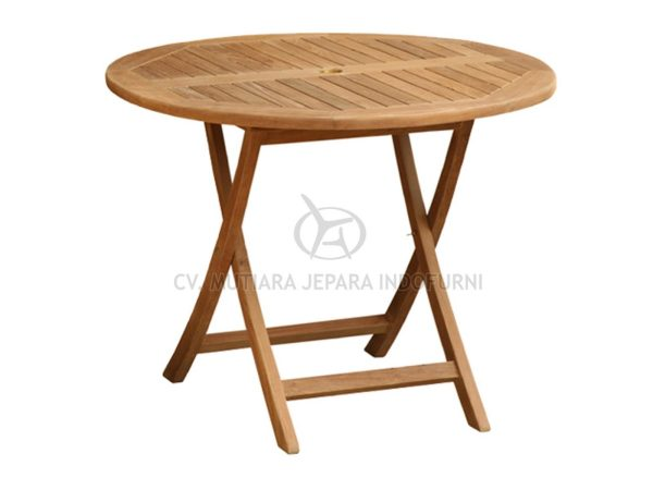 Round Folding Table Indonesia Furniture