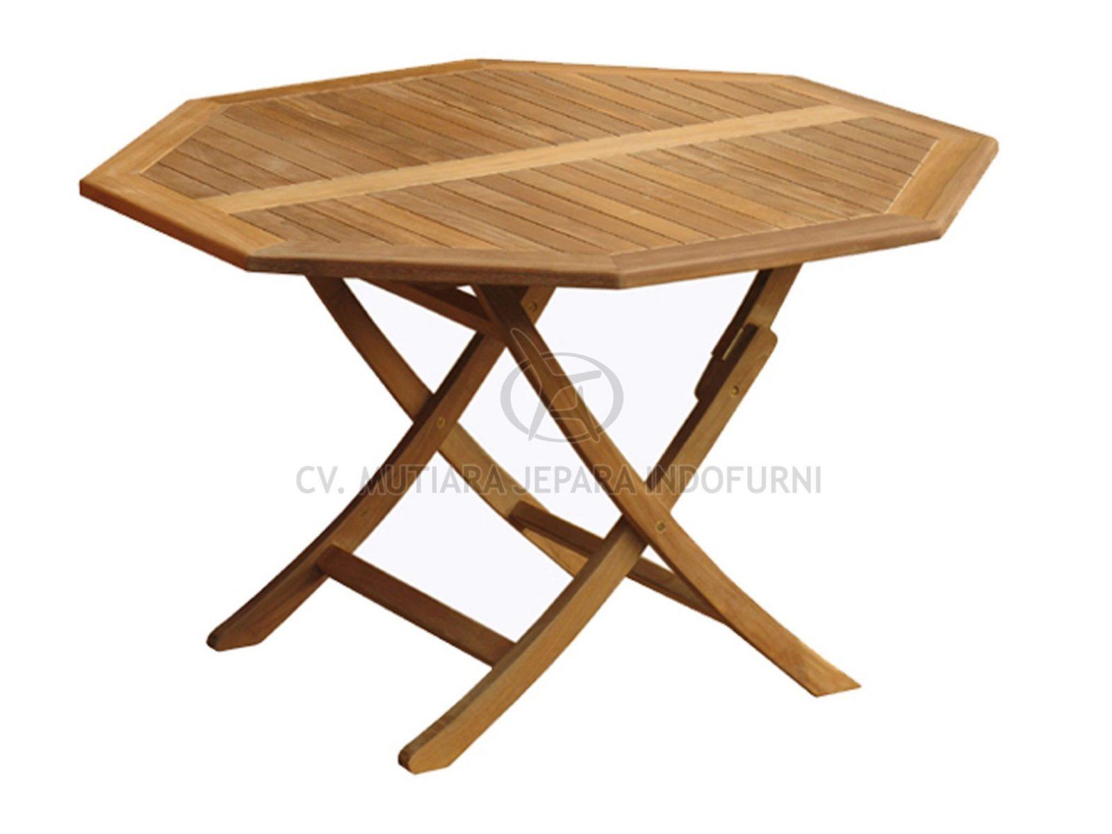 Octagonal Easy Fold Table 120cm Indonesia Furniture Manufacturer