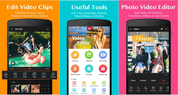 Android Video Editor Apps 2018