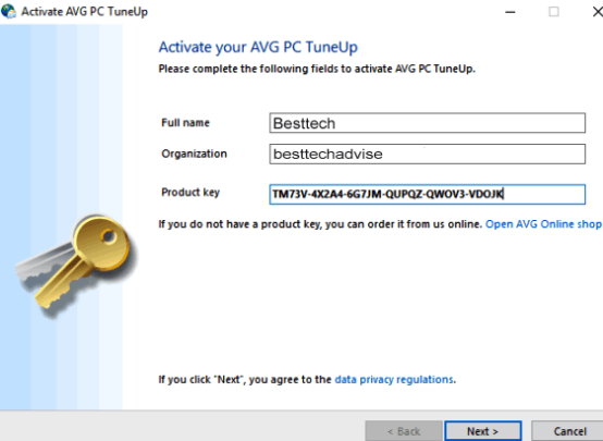 AVG PC Tuneup Key Free