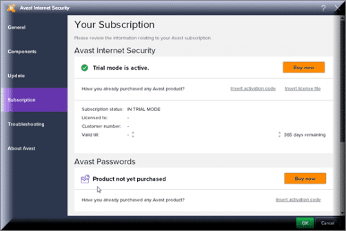 Avast Internet Security 2019 Activation Code
