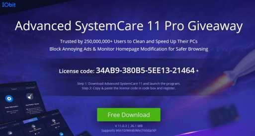 IObit Advanced SystemCare Pro 11 License Key