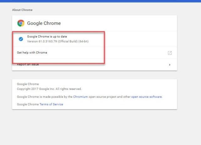 Updating System for Google Chrome