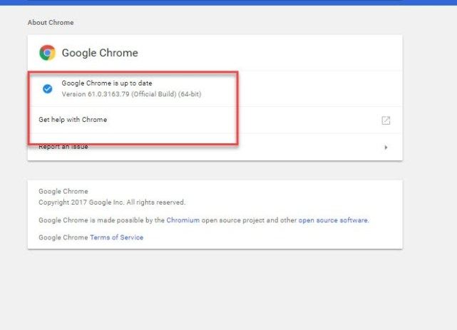 Updating System for Google Chrome