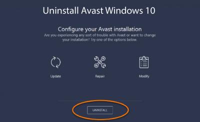 How to Uninstall Avast Antivirus in Windows 10 Completely