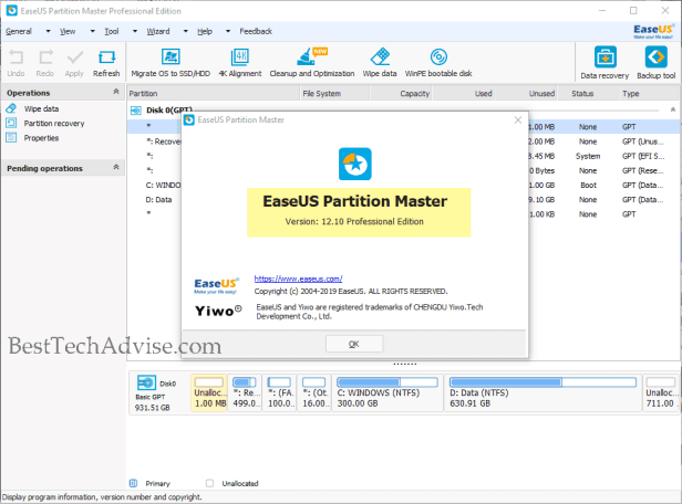 EASEUS Partition Master Professional Activation Sucessful