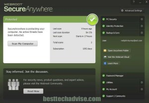Webroot SecureAnywhere Antivirus Download Free 180 Days