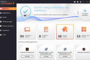 Ashampoo UnInstaller 8 License Key Free Full Version for Windows 10