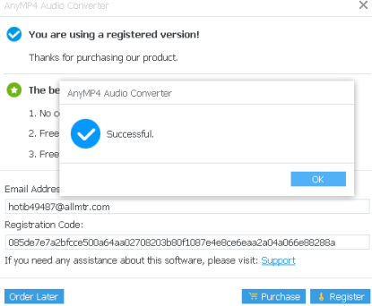 AnyMP4 Audio Converter Registration Code