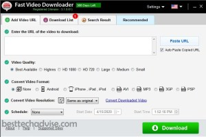 Fast Video Downloader Registration Key Free for 1 Year