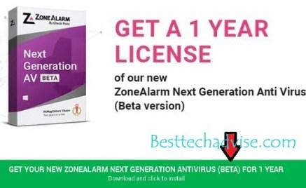 ZoneAlarm Next-Gen Antivirus Free For 1 Year
