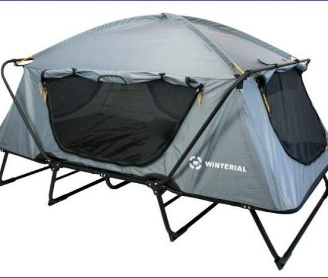 Winterial Double Tent Cot Shown Without The Fly