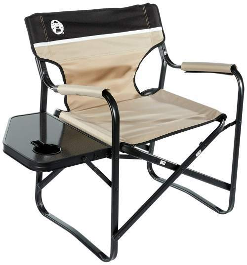 coleman deck chair with table spa for dolls portable side folding reliable best tent cots camping