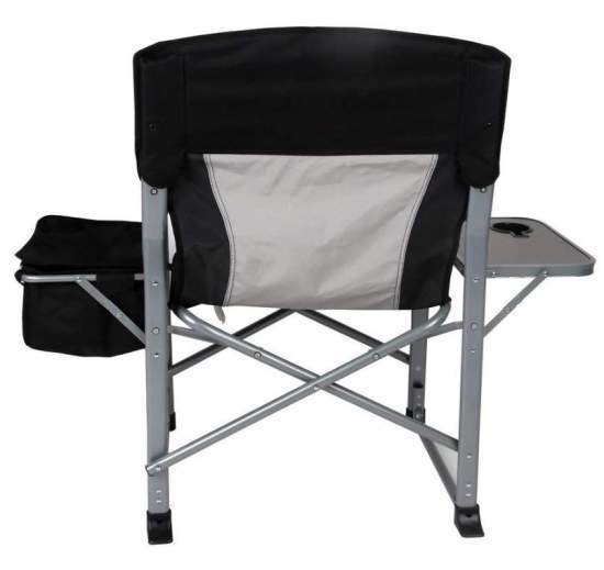 heavy duty folding chair with side table city oil kingcamp steel director s the back view showing how wide is cooler and