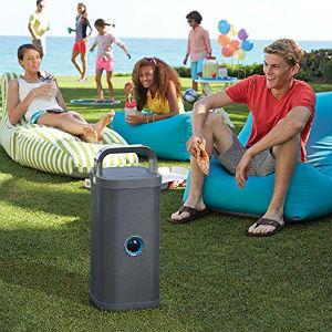 Brookstone Big Blue Party Indoor Outdoor Bluetooth Speaker