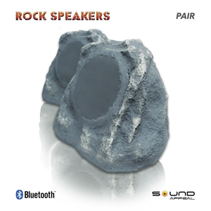 outdoor bluetooth rock speakers. sound appeal bluetooth outdoor rock speaker 2 speakers l