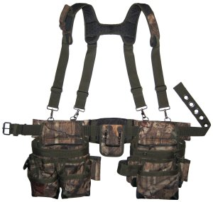 Bucket Boss Camo Mullet Buster Tool Belt and Suspenders