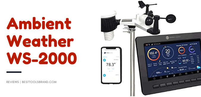 Ambient Weather WS-2000 Smart Weather Station with WiFi Remote Monitoring & Alerts