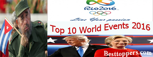 Top 10 World Events 2016