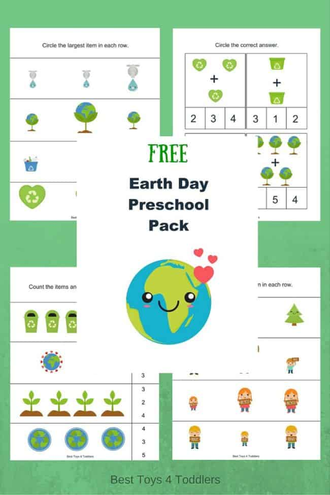 Free Earth Day Printable Pack for Preschoolers  Best Toys