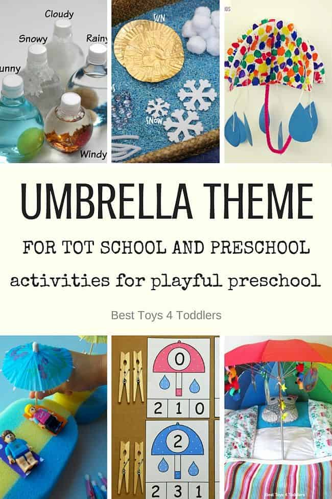 Umbrella Theme for Tot School and Preschool  Best Toys 4
