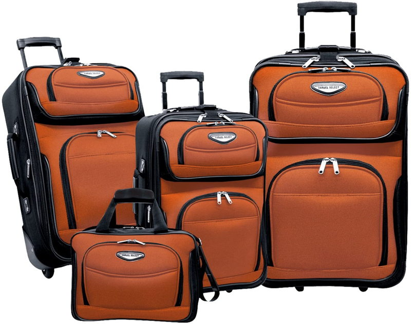 Travel Select Amsterdam Expandable Rolling Upright Luggage Set 4 Piece