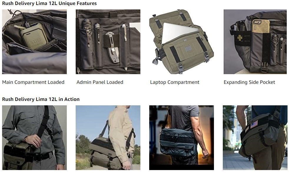 5.11 Tactical Rush Delivery Lima Bag 1
