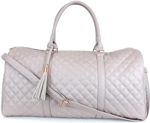 Ms Lovely Womens Quilted Leather Best Travel Bags for Women