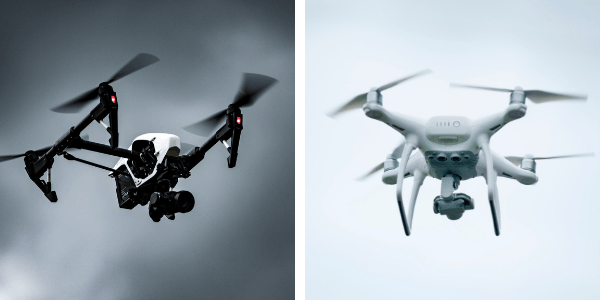 Image of Two Drones Flying from Best Travel Drones Image 1