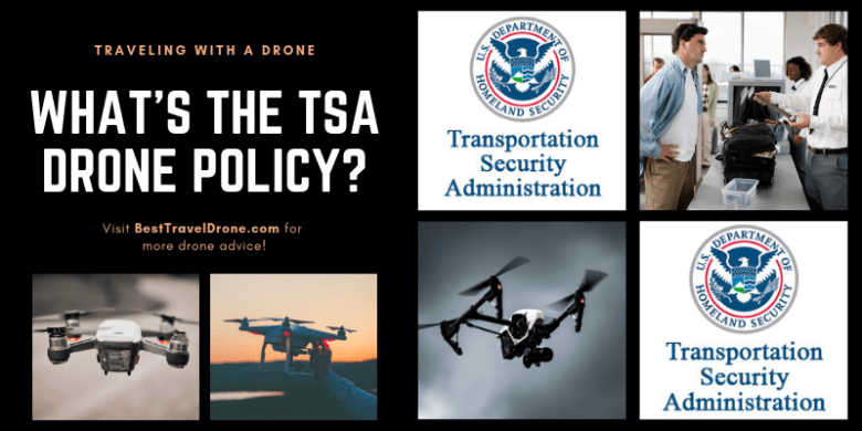 Image of TSA Logo and Text Saying What is the TSA Drone policy