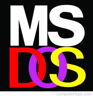 logo microsoft dos