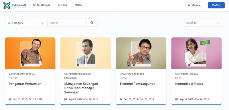 kuliah online gratis indonesiaX