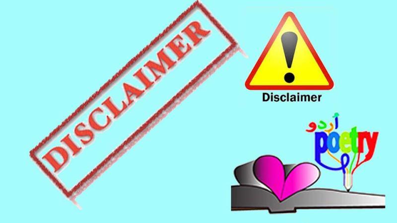 Disclaimer - besturdupoetry.pk